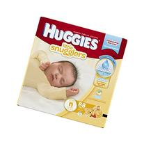 HUGGIES Little Snugglers Baby Diapers, Size Newborn, 88