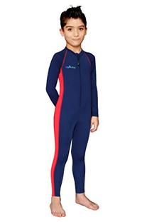Little Boys Sun Protection Swimwear Stinger Suit 2 Navy Red