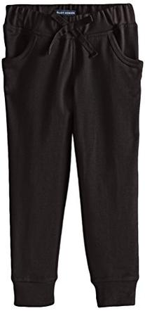French Toast Little Girls' French Terry Jogger, School Black