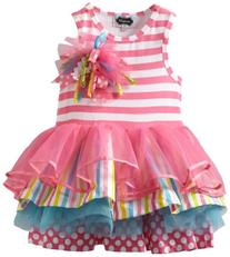 Mud Pie Little Girls' Tiered Birthday Party Tutu Dress,