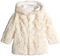 Pumpkin Patch Little Girls' Toddler Hooded Faux Fur Jacket,