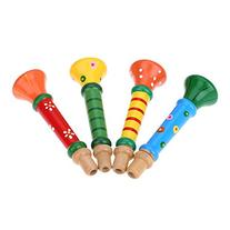Andoer Little Trumpet Suona Horn Wooden Colorful Musical Toy