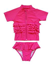 Sassy Surfer - Pink UV Sun Protective Rash Guard Swimsuit