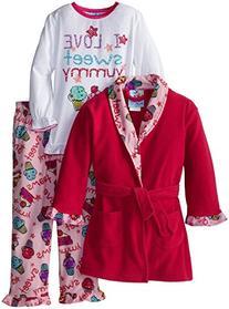 Bunz Kids Little Girls'  Yummy Dreams 3 Piece Robe Set,