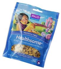 Halo Healthsome Natural Treats for Cats, Select Seafood