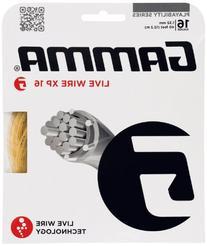 Gamma Live Wire XP 16G Tennis String, Natural