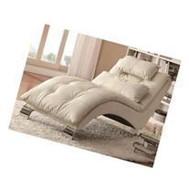 Living Room Chaise with Sophisticated Modern Look in White