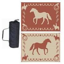 Ming'S Mark Lk7 Lucky Horse Mat Brown/Beige Reversible 9' X