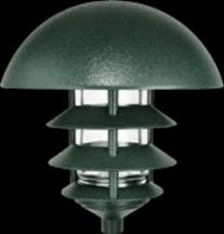 RAB Lighting LLD4VG Incandescent 4 Tier Lawn Light with Dome