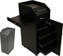 LCL Beauty Locking 4 Drawer Rolling Workstation Trolley with