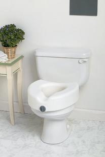 Medline Locking Elevated Toliet Seat without Arms