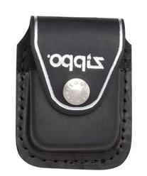 Black Zippo Logo Leather Belt Clip Pouch