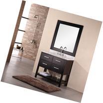 """Design Element London 36"""" Bathroom Vanity with Open"""