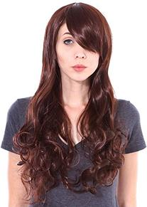 Simplicity Long Curly Full Wig Wavy Cosplay Party Wigs, Dark