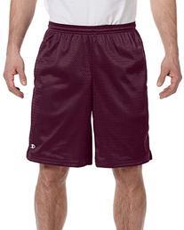 Champion - Long Mesh Shorts with Pockets >> S,MAROON
