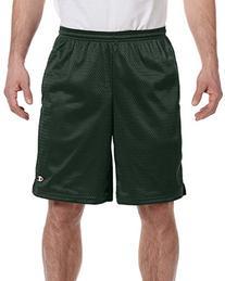 Champion 3.7 oz. Long Mesh Shorts with Pockets M ATHLETIC