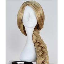 Angelaicos Womens Long Braids Blonde Costume Rapunzel Wig