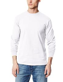 MJ Soffe Men's Long-Sleeve Cotton T-Shirt, Gun Metal, X-