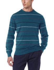 IZOD Men's Long Sleeve Fine Gauge Multi Stripe Sweater,