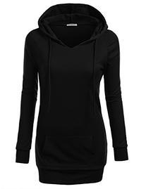 J.TOMSON Women's Pullover Hoodie BLACK M