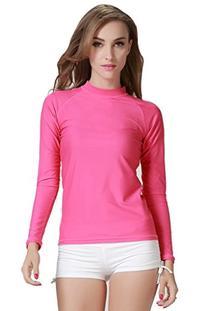 Long Sleeve Rashguard T-Shirt Pink