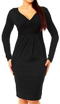 Glamour Empire Women's Long Sleeve Stretchy Jersey Pencil