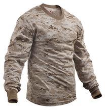 Rothco Long Sleeve T-Shirt, Desert Digital, Medium
