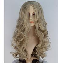 Angelaicos Women Long Wavy Curly Dark Blonde Halloween