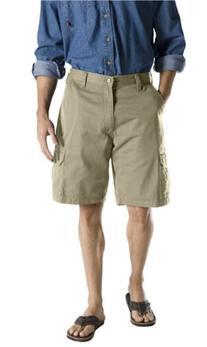 Dickies Men's 10-Inch Loose Fit Cargo Short, Khaki, 34