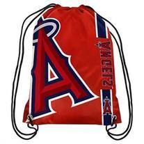 Los Angeles Angels Side Stripe Drawstring Backpack