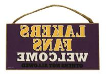 Los Angeles Lakers Fans Welcome Wood Sign