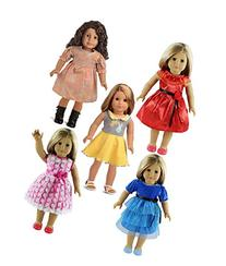 "sweet dolly 5PC Lots Doll Clothes for 18"" Dolls American"