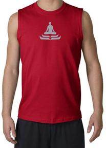 LOTUS POSE Yoga Meditation Sleeveless Muscle Shirt Shooter