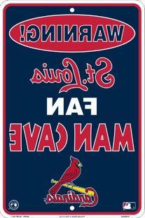 St. Louis Cardinals Fan Man Cave Metal Sign 8 x 12