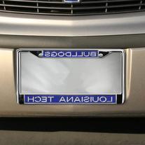 Louisiana Tech Bulldogs Acrylic Inlay Chrome License Plate