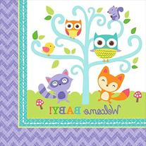 Amscan Lovable Woodland Welcome Baby Lunch Birthday Party