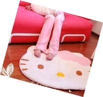 Bestfashion Lovely Big Head Hello Kitty Fuzzy Floor Cushion