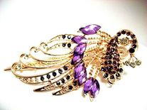 CAETLE ® Lovely Vintage Jewelry Crystal Peacock Hair Clips