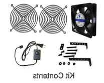 Coolerguys 120x25mm Low Speed AC Fan with mount/stand and