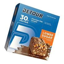 Detour Lower Sugar Protein Bars, Chocolate Chip Caramel, 85
