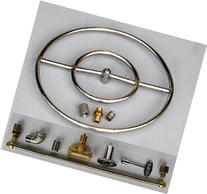 """18"""" LP Stainless Steel FIRE PIT DOUBLE RING GAS BURNER KIT"""