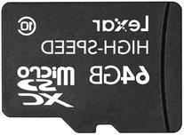 Lexar microSDXC 64GB Mobile Flash Card LSDMI64GASBNAC10