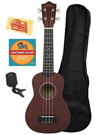 Lanikai LU-11 Soprano Ukulele Bundle with Gig Bag, Austin
