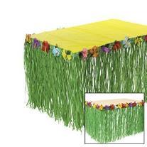 Luau Hibiscus Green Table Skirt