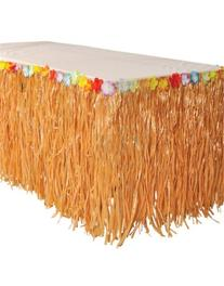 RINCO Luau Natural Color Grass Table Skirt Decoration with