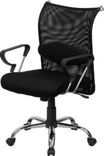 Lugo Mid-Back Manager's Chair Black Mesh Back & Padded Mesh