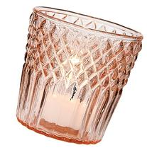 Luna Bazaar Vintage Glass Candle Holder  - For Use with Tea
