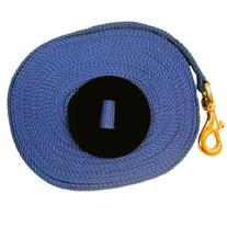Intrepid International Lunge Line with Rubber Stopper, Blue
