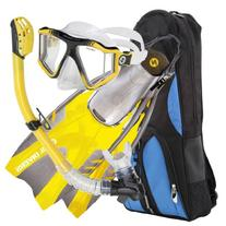 U.S. Divers Men's Lux LX Mask with Purge, Pivot Fins and