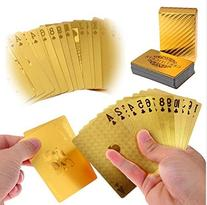 LLF Luxury 24K Gold Foil Poker Playing Cards Deck Carta de